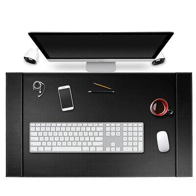 34 X 20 Premium Vegan Leather Edge Office Desk Pad Keyboard Gaming Mouse Mat