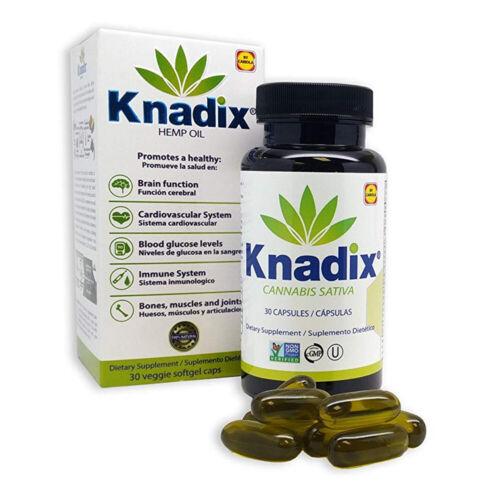 Knadix Hemp Oil. Rich Dietary Supplement. Non-Saturated Fatty Acids. 30 Caps. 1