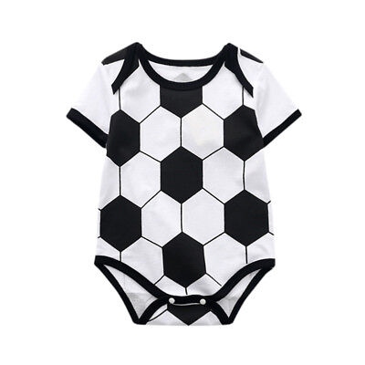 Toddler Baby Kids Gilrs Romper Soccer Print Jumpsuit Playsuit Outfits