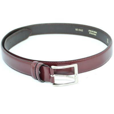 Cintura uomo cintura regolabile pellame lucido abrasivato color vino tinta unita