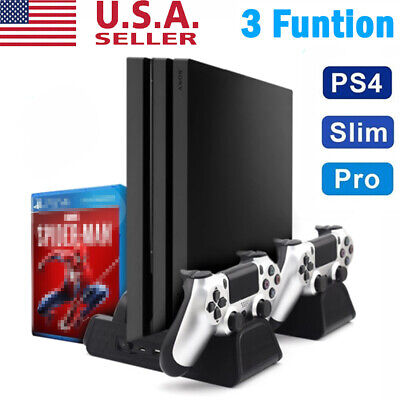 Cooling Fan Cooler Vertical Stand Station Charger Playstation for PS4 Pro Slim