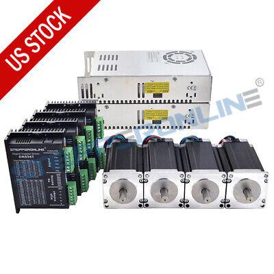4 Axis Cnc Kit 3nm425oz.in Nema 23 Stepper Motor Driver Dm556t Power Supply