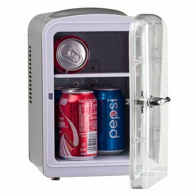 4L Mini Portable Skincare Fridge Cooler Breast Milk DC 12V AC Medication Lunch