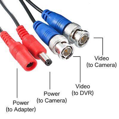 ZOSI 4X 20M HD BNC Videokabel DC Strom Verlängerungskabel für CCTV Überwachung Bnc-video-kabel