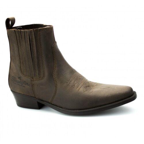 wrangler low mens leather ankle length cuban heel