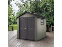 Keter Oakland Garden Shed 759, 7.5ft x 9ft (2.87m x 2.29m x 2.42m) Cheapest in UK !! Limited Stock !