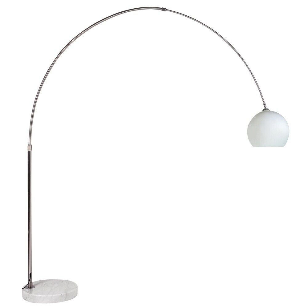 Giant Curved Floor Lamp With Gl Shade From Dwell In Haringey London Gumtree