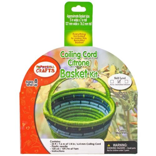 Craft County Coiling Cord Basketry Kit with Materials - Multi Types & Colors