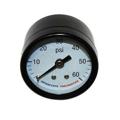 Pressure Gauge 60 Psi 1 -12 Diameter 18 Npt Rear Mount G2101-060