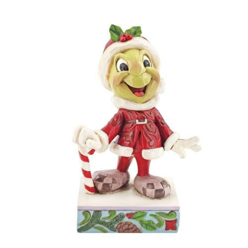 Jim Shore Disney JIMINY CRICKET SANTA Christmas Figurine 6008986 NEW 2021