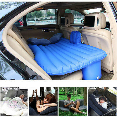 Flocking Inflatable Car Bed Back Seat Mattress Air Travel