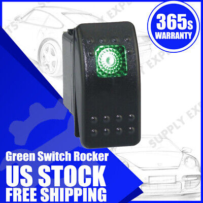 12v 20a Waterproof Onoff Boat Marine Spst 3p Rocker Switch W Green Led Light