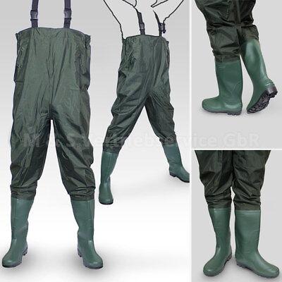 Wathose Anglerhose Angelhose Watstiefel Watthose PVC/Gummi Teichhose mit Stiefel