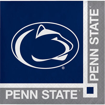 40ct Penn State University  2-ply Beverage Napkins Party college football - Penn State Party Supplies