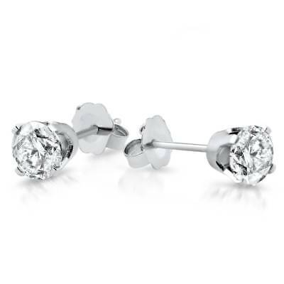 1/3 ctw 14k White Gold Diamond Stud Earrings