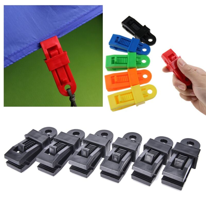 Jaw grip Plastic Hooks Camping Tent Holder Large tarp clips Canvas Tighten tool
