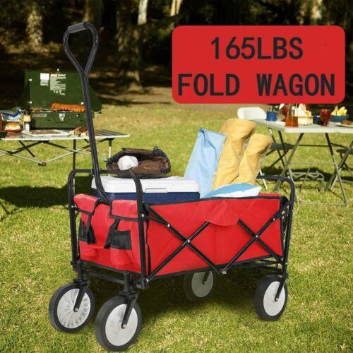 Collapsible Wagon Beach Camping Garden Folding Trolley Utili
