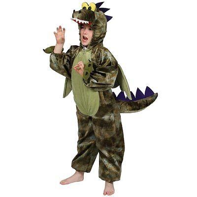 Dinosaurier Drache Kostüm Kinder Fancy Dress Halloween Prähistorischen Karneval ()