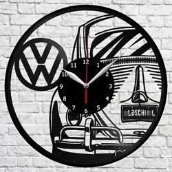Volkswagen Retro Car Vinyl Record Wall Clock Home Fan Art Decor 12'' 30 cm 5976
