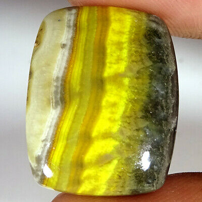 20.75 Cts Natural BUMBLE BEE JASPER Cushion Shape 18x23x5 mm Gemstone