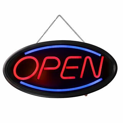 Led Bright Open Business Sign Shop Store Bar Cafe Blue Red Color Neon Light