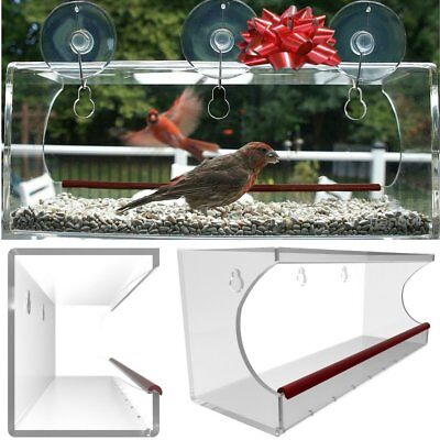 Large Window Bird Feeder: See Through Clear Acrylic Design Provides a Unique In