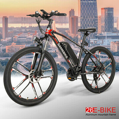 SAMEBIKE 26In Men'S Electric Mountain Bike Outdoor Riding 30km/H Bicycle 21Speed