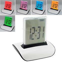 7 Color LED Change Digital Alarm Clock LCD Thermometer Calendar Office home new