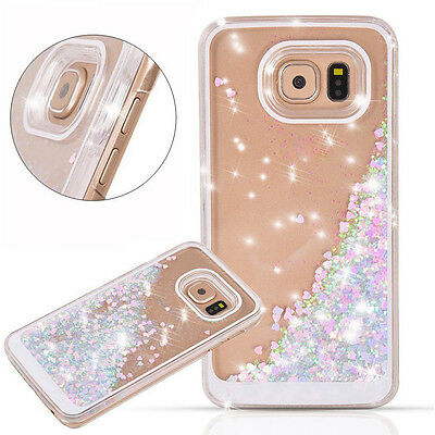 (Glossy Glitter Bling Sparkle Hard Plastic Case Cover for Samsung Galaxy S7 Edge)