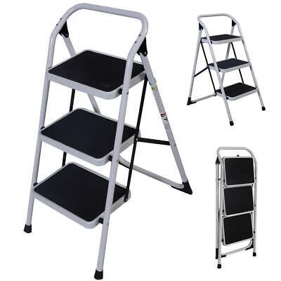 Protable 3 Step Ladder Folding Non Slip Safety Tread Industr