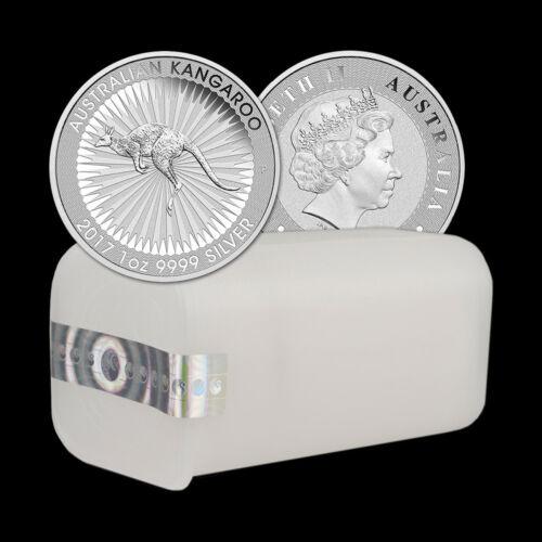 Roll (25) 2017 1 Troy oz .9999 Silver Australian Kangaroo BU Coins Perth Mint