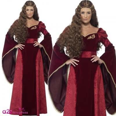 Deluxe Mittelalterliche Königin Game of Thrones Tudor-Dame Schickes KleidKostüm