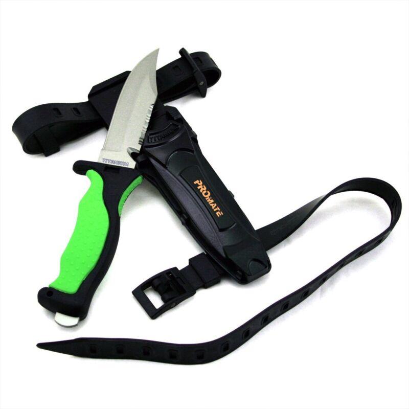 Promate Sharp Full Tang Titanium Blade Scuba Dive Knife Snorkeling Spearfishing