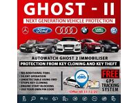 Autowatch GHOST 2 Immobiliser Vehicle Security + FREE Car Tracker Device GPS Live System PACK