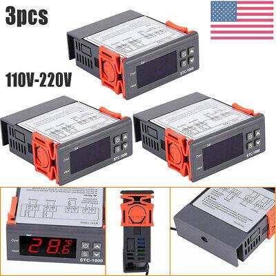 3pcs Sht2000 Stc-1000 110-220v Temperaturehumidity Controller Thermostat Sensor