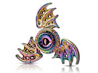 Devil Eye 3 Dragon Wings Cool Hand Spinner Fidget Toy Relieves Stress-Silver