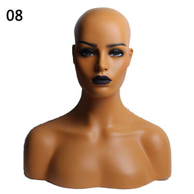 Us Realistic Mannequin Head Display Fiberglass Hat Glasses Mold Stand Wig No.8