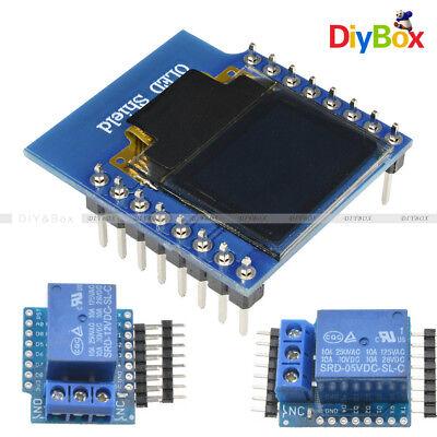 0.66 Wemos D1 Mini Wifi 1ch Relay Shield 512v Oled I2c Iic For Esp8266 Arduino