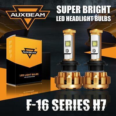 Auxbeam F-16 SERIES H7 CREE LED Headlight Kit Hi/Lo Beam Bulbs 6000K Xenon Power