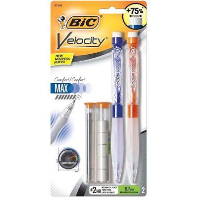 Bic Velocity Max Mechanical Pencil Medium Point 0.7mm 2-pack New