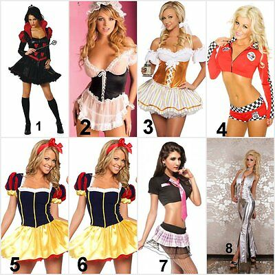 Queen of Harts Wench/Maid German Beer Girl Racer Snow White School Girl (Racer Girl Kostüm)