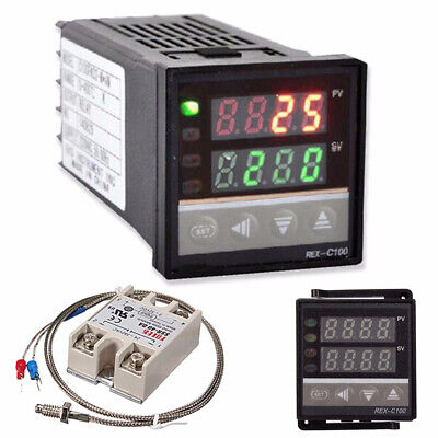 Lcd Pid Rex-c100 Temperature Controller Setk Thermocouplemax.40a Ssr R1c1