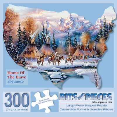 Bits and Pieces-300 Piece Shaped Puzzle-Native American-by Artist Kirk Randle (Shape Puzzles)