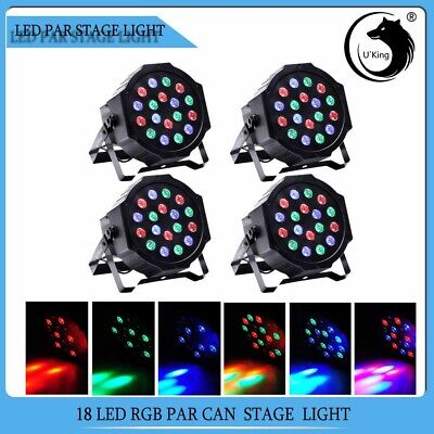 4PCS Bühnenlicht 54W RGB 18LED Par CAN DMX 7CH Disco Pub Party Stage Lichteffekt - Par Pc