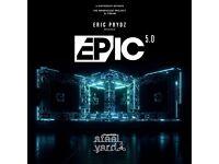 Eric Prydz Tickets Steel Yard London EPIC 5.0 Saturday 27th May 2017