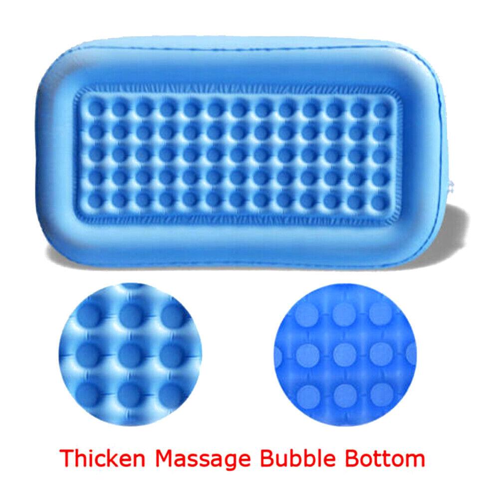 Blow Up Inflatable Bathtub Bath Tub Adult PVC Portable Comfortable ...