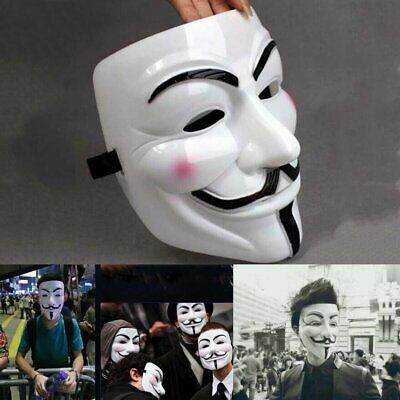 Cat Mask For Halloween (V for Vendetta Mask Halloween Guy Fawkes Anonymous Cosplay Fancy Dress)