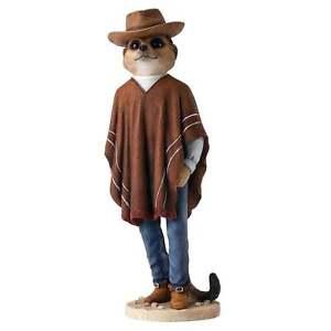 Magnificent Meerkats Country Artists Cowboy Meerkat Figurine New CA04493