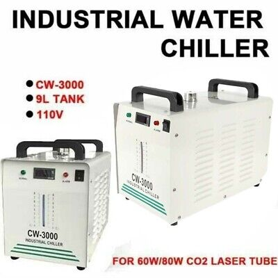 Industrial Water Chiller For Co2 Glass Laser Engraver Engraving Machine Cw-3000