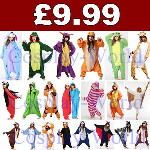 Adult-Pyjamas-All-In-One-Sleepsuit-Romper-Onsie-Animal-Onesie-Kigurumi-Pajamas
